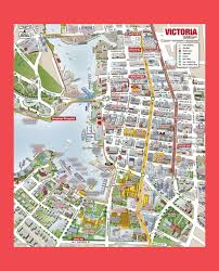 Seattle Map Downtown by Victoria City Tourist Map Victoria City Bc U2022 Mappery