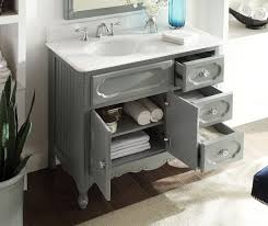 42 inch bathroom vanity grey cottage beach style victorian gray