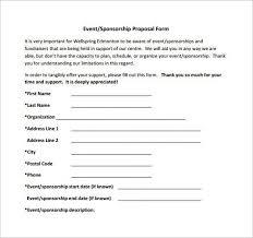sponsor proposal example sample sponsorship proposal template 15