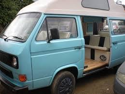 volkswagen vanagon blue 1984 t25 high top with a unique light blue interior vanagon