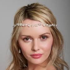 headband across forehead bridal boho headband pearl hairvine bridal hair