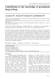 iranische k che contribution to the knowledge of pestalotioid fungi of iran pdf