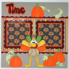 blj studio turkey time thanksgiving scrapbook pages
