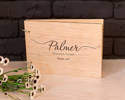 engravable wedding guest book rustic wedding guest book wood guestbook custom engraved