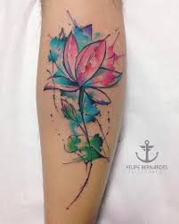 lotus watercolor tattoo pictures to pin on pinterest tattooskid