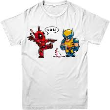 Marvel Super Heroes Clothing Deadpool T Shirt Wolverine Ice Cream T Shirt Marvel Superhero Top