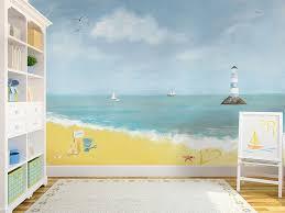 nursery wallpaper along the beach wallpaper mural rachie b