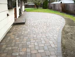 Paver Patio Roca Style Paver Patio In Washington Ajb Landscaping Fence