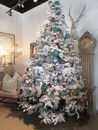 Blue White And Silver Christmas Tree - ice blue white u0026 silver it looks gorgeous on this color tree