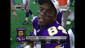 randy moss vs cowboys thanksgiving 1998 scored on every target