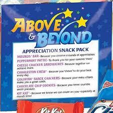 above beyond appreciation snack pack staff appreciation