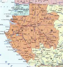 Gabon Map габона на русском языке Map Of Gabon In Russian