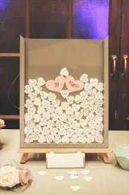 wedding guest book picture frame diy wedding guest book frame w hearts guestbook unique