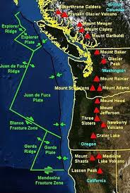 physical map of oregon juan de fuca plate cascadia subduction zone