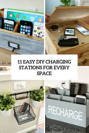 decorative charging station 11 easy diy charging stations for every space shelterness