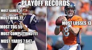 Peyton Superbowl Meme - patriots getting peyton manning in a meaningful game is a gift from