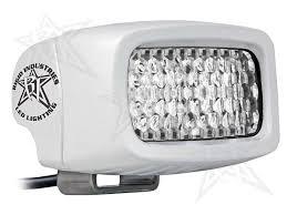 marine led spreader lights sr m series pro flood diffused flush white black rigid industries