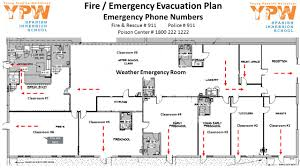 Fire Evacuation Plan Office by Weather Emergency Room Classroom 1 Classroom 2 Classroom 3