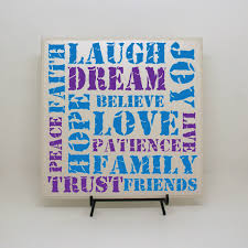 faith family friends live laugh love life words sign