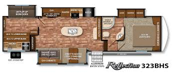 silverback rv floor plans reflection 323bhs os kitchen no gen prep can silverback 5th wheel