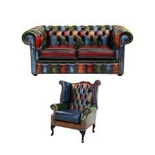 Queen Anne Wingback Chair Chesterfield London 3 Seater Queen Anne Wing Chair Sofa Suite