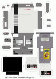 Nes Papercraft By Jhonat D2sbr30 Jpg 1 984 2 806 Pixels Art