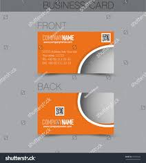Orange Colors Names Business Card Design Set Template Company Stock Vector 357832091