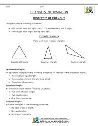 properties of triangles properties 1 math pinterest geometry
