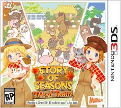 amazon com story of seasons trio of towns nintendo 3ds
