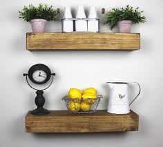 solid built rustic floating box shelf floating shelves kitchen