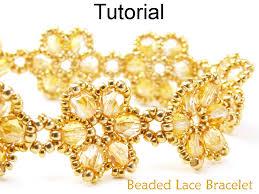 beading tutorial pattern bracelet beadweaving beaded flowers