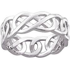 celtic knot wedding bands celtic knot wedding band in sterling silver walmart