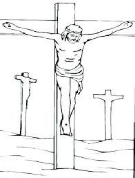 coloring pages jesus died on the cross on the cross coloring pages