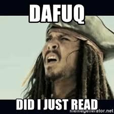 Meme Dafuq - dafuq did i just read jack sparrow what meme generator