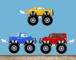reusable construction truck wall decals childrens fabric