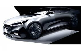 range rover sketch 2017 kia cadenza previewed reveals smart new design