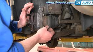how to install replace front wheel bearing hub chrysler town and