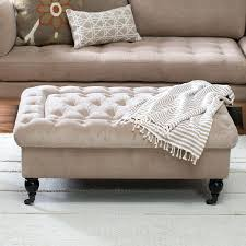 Leather Storage Ottoman With Tray Tufted Ottoman Storage Threshold Tufted Storage Ottoman Bench