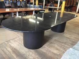 Oval Boardroom Table 10 Ft Black Granite Oval Conference Table T9596c Conklin