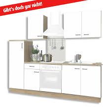 Küchenblock BIGGI matt weiß Sonoma Eiche 270 cm