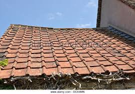 Terracotta Tile Roof Weathered Old Terracotta Tiled Roof Stock Photos U0026 Weathered Old