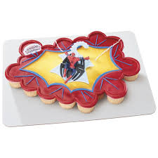 decopac spiderman web spinner cake kit