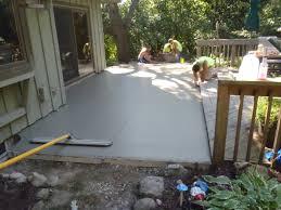 Diy Concrete Patio Diy Concrete Patio Part One Inspiration Patio Furniture As How To