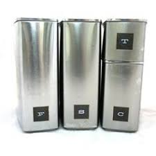 kitchen canisters stainless steel mod stainless steel canister set vintage kitchen canisters