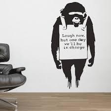 banksy home decor banksy wall sticker in maid sweeping design cuckooland