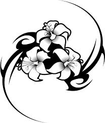 hawaiian flower tribal tattoos tattoo fantastic