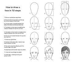 draw face 12 steps free photos