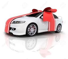 car bow ribbon car and ribbon done in 3d stock photo picture and royalty