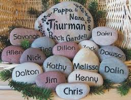 Engraved Garden Rocks Engraved Rock Garden For Grandmas Best By Sandstudios