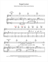 superhuman feat hilson sheet by chris brown piano